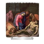 Deposition Shower Curtain by Eustache Le Sueur
