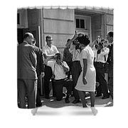 DESEGREGATION, 1963 Shower Curtain by Granger