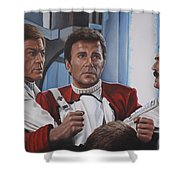 Desperation In His Eyes Shower Curtain by Kim Lockman