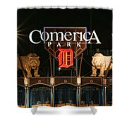 Detroit Tigers - Comerica Park Shower Curtain by Gordon Dean II