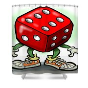 Dice Shower Curtain by Kevin Middleton