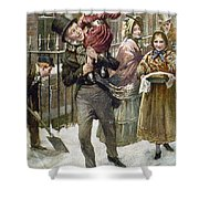Dickens: A Christmas Carol Shower Curtain by Granger