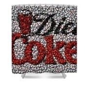 Diet Coke Bottle Cap Mosaic Shower Curtain by Paul Van Scott