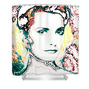 Digital Self Portrait Shower Curtain by Kathleen Sepulveda