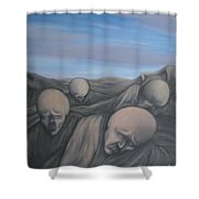 dismay Shower Curtain by Michael  TMAD Finney
