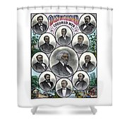 Distinguished Colored Men Shower Curtain by War Is Hell Store