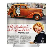 Dodge Automobile Ad, 1936 Shower Curtain by Granger
