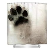 Dog Art - I Paw You Shower Curtain by Sharon Cummings