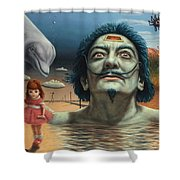 Dolly in Dali-Land Shower Curtain by James W Johnson