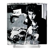 Dont Look Back Shower Curtain by Luis Ludzska