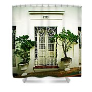 Door 59 Shower Curtain by Perry Webster