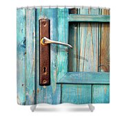 Door Handle Shower Curtain by Carlos Caetano