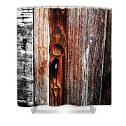 Door To The Past Shower Curtain by Julie Hamilton