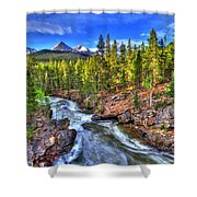 Down The River Shower Curtain by Scott Mahon