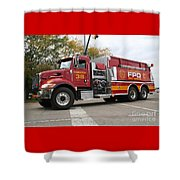 Downs Tanker 38 Shower Curtain by Roger Look