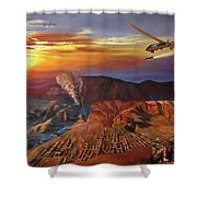 Dragon Dawn Mq1 Predator Shower Curtain by Todd Krasovetz