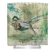 Dragonfly Shower Curtain by Gustave Moreau