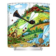 Dragonfly Shower Curtain by Luis Peres