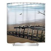 Dream Lake Shower Curtain by Richard Rizzo