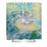 Dream Wave Shower Curtain by Linda Sannuti