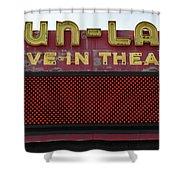 Drive Inn Theatre Shower Curtain by David Lee Thompson
