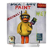 Duck Boy Shower Curtain by Leah Saulnier The Painting Maniac