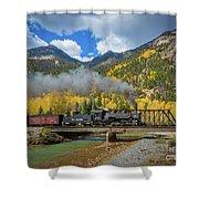 Durango-silverton Twin Bridges Shower Curtain by Inge Johnsson
