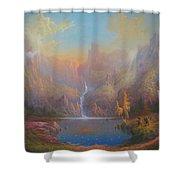 Dwarf Kingdom The Crown Of Durin Shower Curtain by Joe  Gilronan