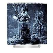 Dwarven Holy Anvil Shower Curtain by Marc Garrido