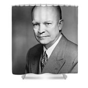 Dwight Eisenhower Shower Curtain by War Is Hell Store