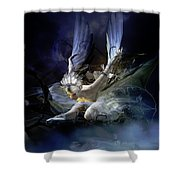 Dying Swan Shower Curtain by Mary Hood