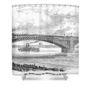 EADS BRIDGE, ST LOUIS Shower Curtain by Granger