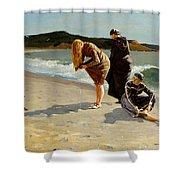 Eagle Head Manchester Massachusetts Shower Curtain by Winslow Homer