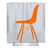 Eames Fiberglass Chair Orange Shower Curtain by Naxart Studio