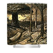 Early Morning Shower Curtain by Samuel Palmer