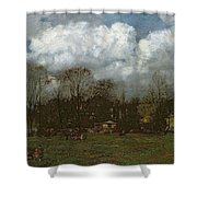 Early Spring Shower Curtain by Hans Thoma