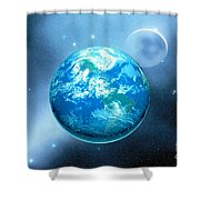 Earth Shower Curtain by Corey Ford