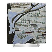 East Orange Vermont Shower Curtain by Charlotte Blanchard
