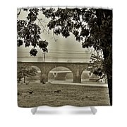 East River Drive - Philadelphia Shower Curtain by Bill Cannon