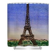 Eiffel Tower Paris France Shower Curtain by Irina Sztukowski
