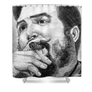 El Che Shower Curtain by Roberto Valdes Sanchez