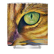 El Gato Shower Curtain by Brian  Commerford