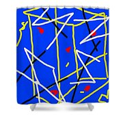 Electric Midnight Shower Curtain by Paulo Guimaraes