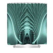 Electric Sheep Shower Curtain by John Edwards