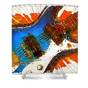 Electric Strings Shower Curtain by David G Paul