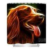 Electrifying Dog Portrait Shower Curtain by Pamela Johnson