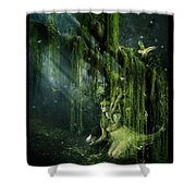 Elemental Earth Shower Curtain by Mary Hood