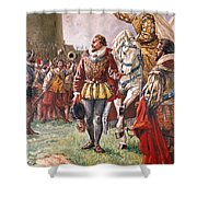 Elizabeth I The Warrior Queen Shower Curtain by CL Doughty