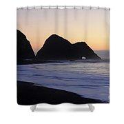 Elk Beach California Shower Curtain by Bob Christopher