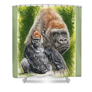 Eloquent Shower Curtain by Barbara Keith